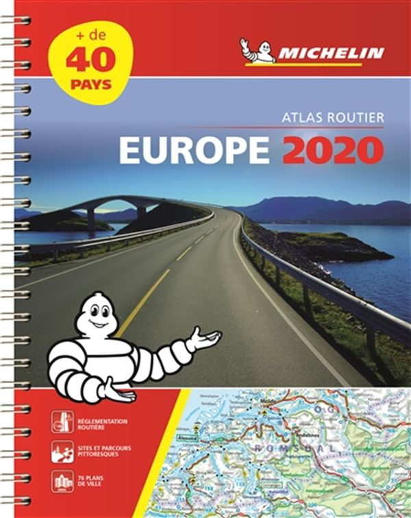 Europe Atlas routier 2020 (Spirale)