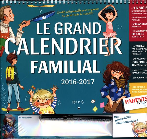 Le Grand Calendrier Familial 2016 2017 Distribution