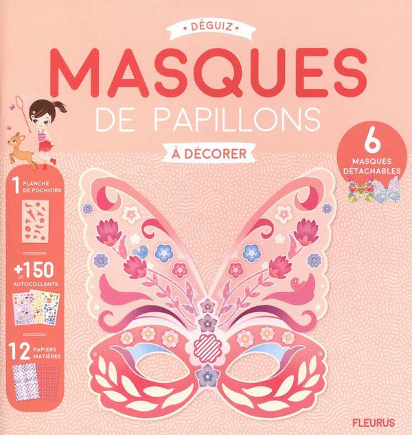 Masques de papillons à décorer