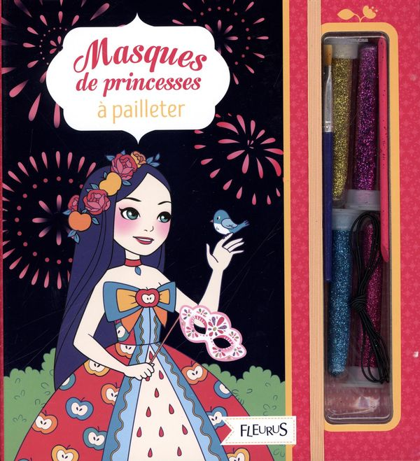 Masques de princesses à pailleter