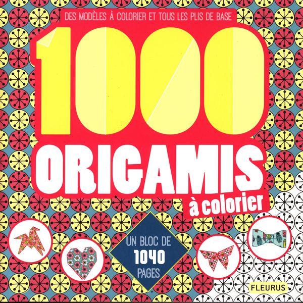 1000 origamis à colorier
