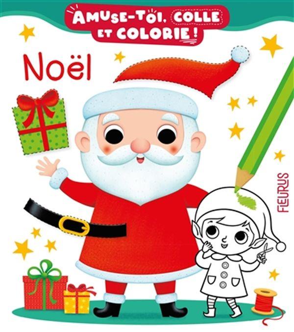 Noël - Amuse-toi, colle et colorie