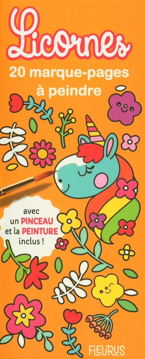 Marque-pages à peindre - Licornes