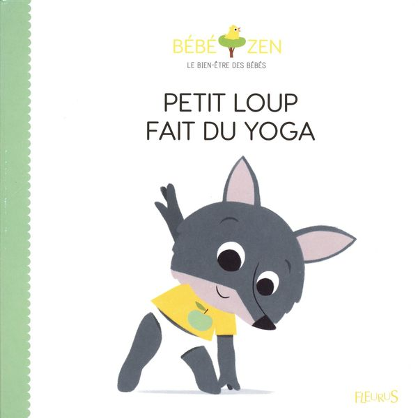 Petit loup fait du yoga