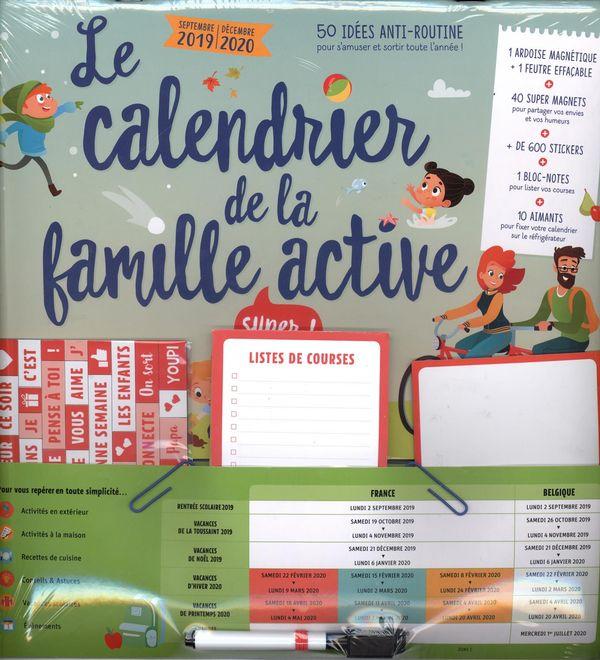 Le calendrier de la famille active 2019-2020