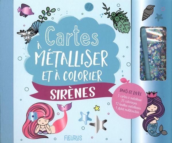 Cartes à métalliser et à colorier - Sirènes