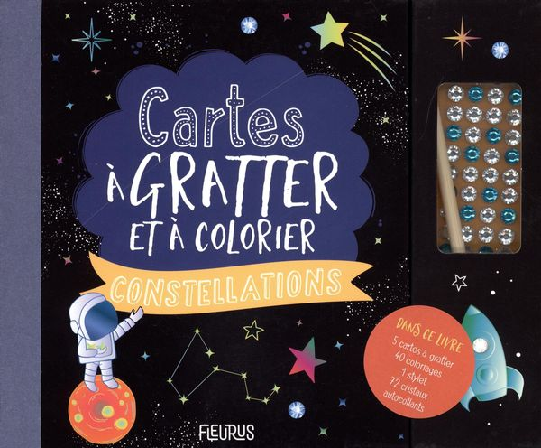 Cartes à gratter et à colorier - Constellations