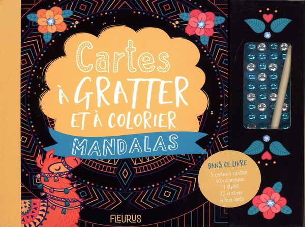 Cartes à gratter et à colorier - Mandalas