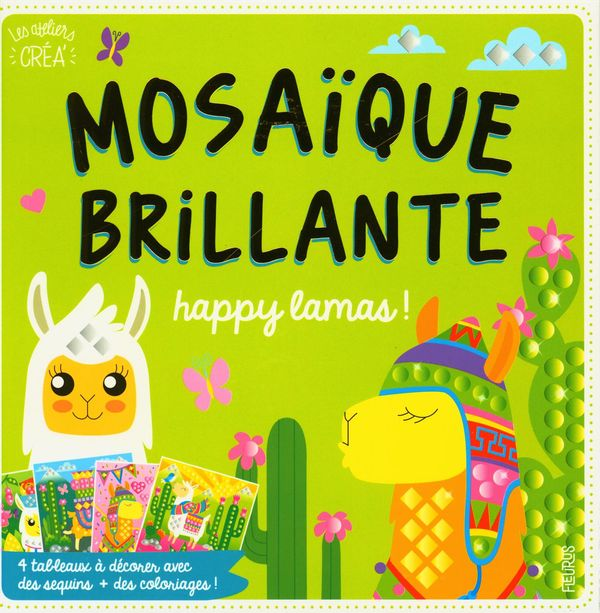 Mosaïque brillante - Happy lamas!