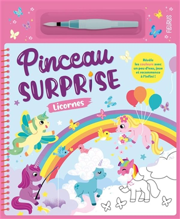 Pinceau surprise : Licornes