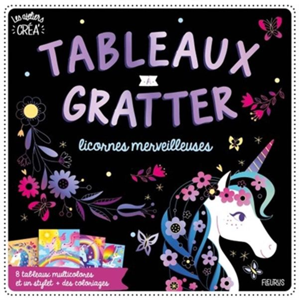 Tableaux à gratter - licornes merveilleuses