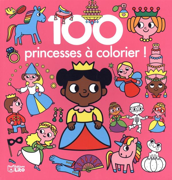 100 princesses à colorier!