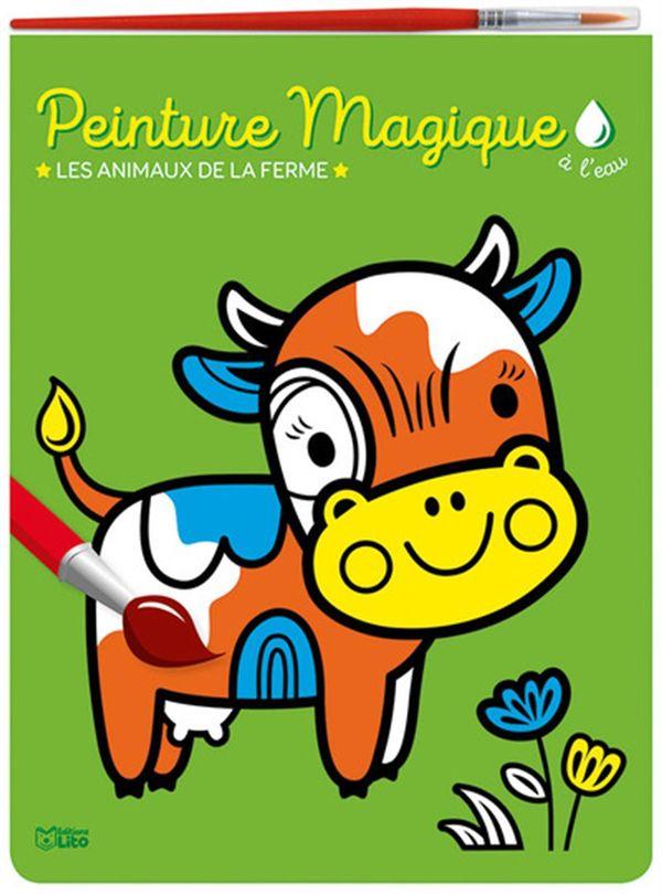Peinture magique à l'eau - Les animaux de la ferme