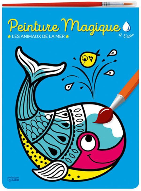 Peinture magique à l'eau - Les animaux de la mer