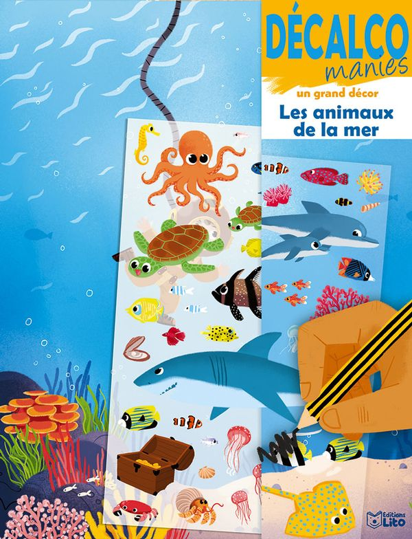 Les animaux de la mer : Décalco manies