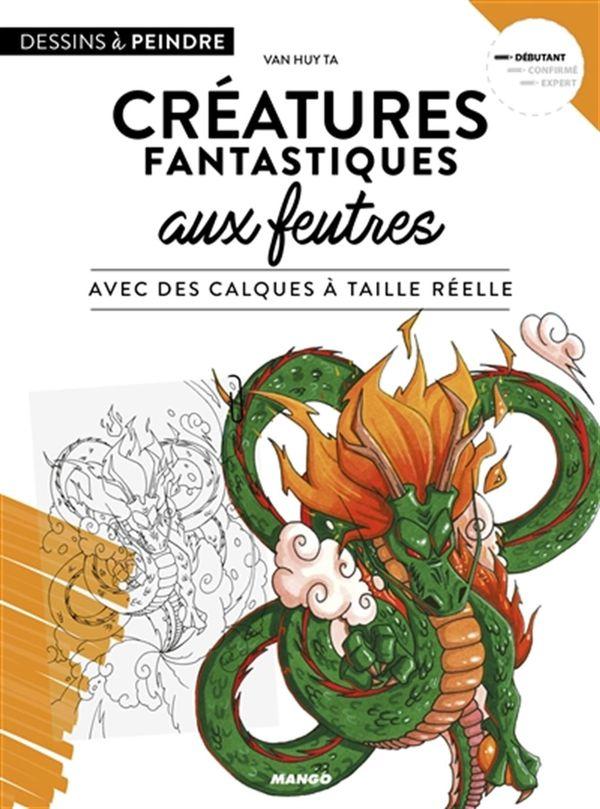 Créatures fantastiques aux feutres avec des calques à taille réelle