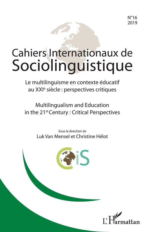 Cahiers internationaux de Sociolinguistinque n°16