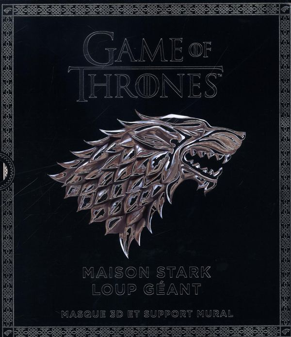 Game of Thrones : Maison Stark Loup géant : Masque 3D et support mural