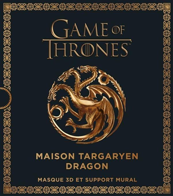 Game of Thrones : Maison Targaryen dragon : Masque 3D et support mural
