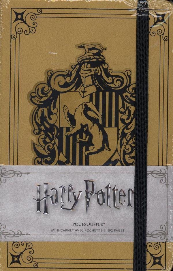Harry Potter - Mini carnet avec pochette Poufsouffle 05