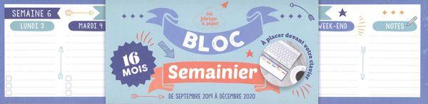 Semainier bloc clavier 2019-2020