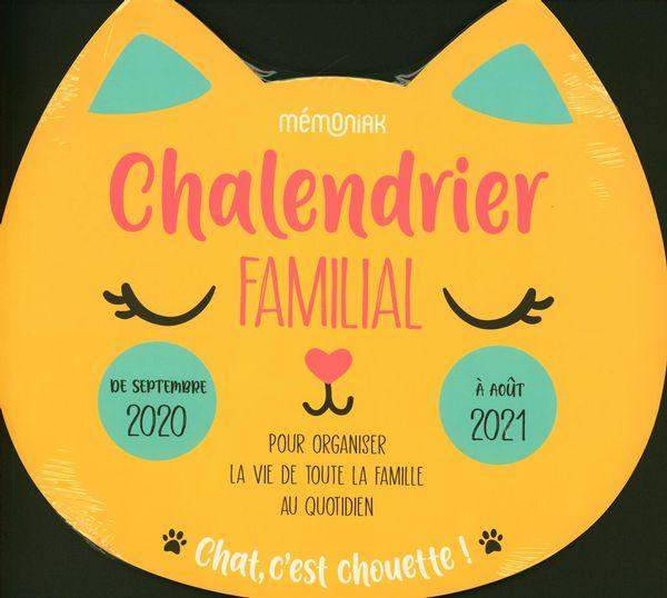 Chalendrier familial Mémoniak 2020-2021