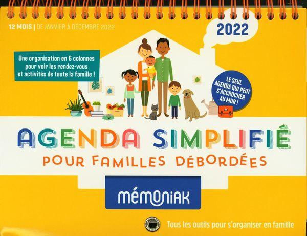 Agenda simplifié pour familles débordées Mémoniak 2022