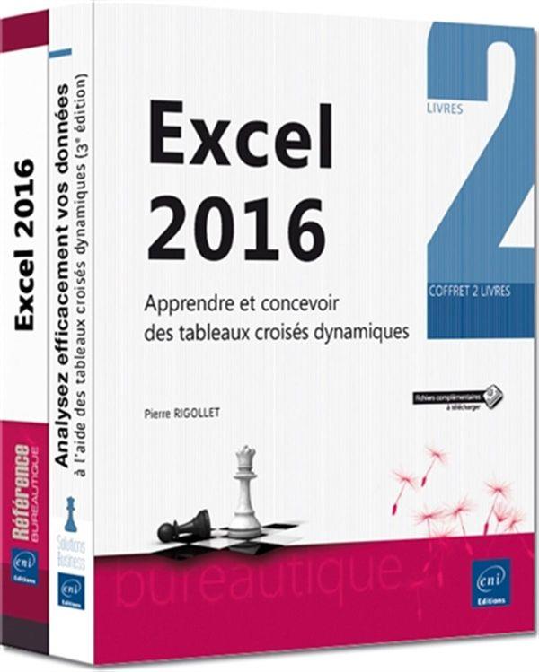 Excel 2016 - Apprendre et concevoir des tableaux croisés