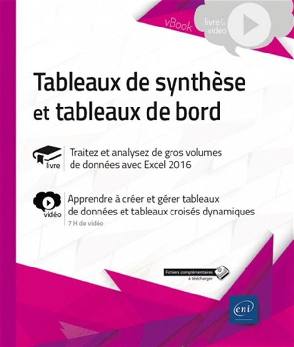 Tableaux de synthèse et tableaux de bord