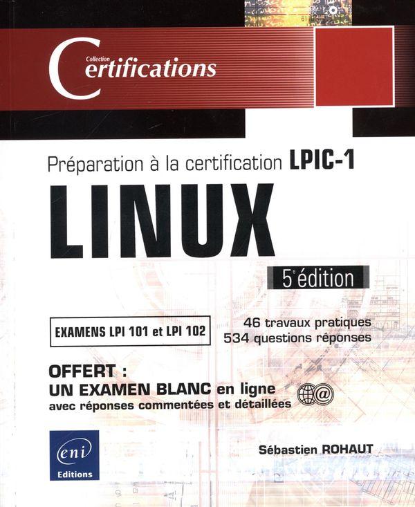 LINUX - Préparation à la certification  LPIC-1 5e édition