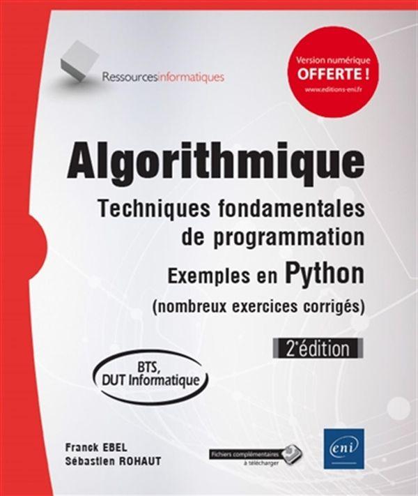 Algorithmique : Techniques fondamentales de programmation