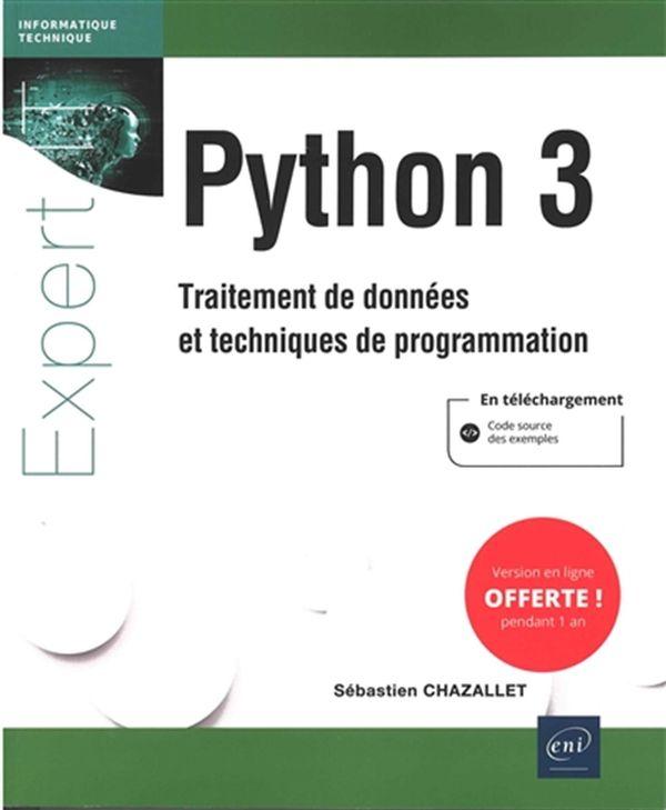 Python 3 : Traitement de données et techniques de programmation