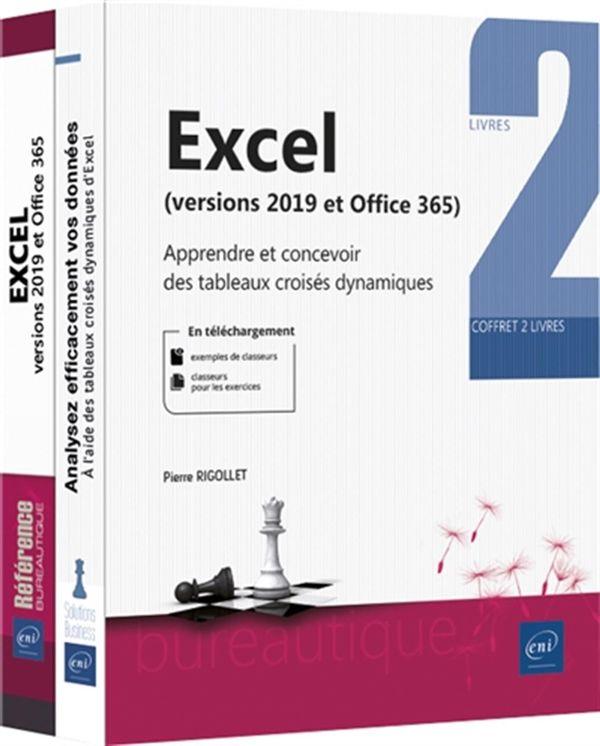 Excel (versions 2019 et Office 365) : Coffret 2 livres