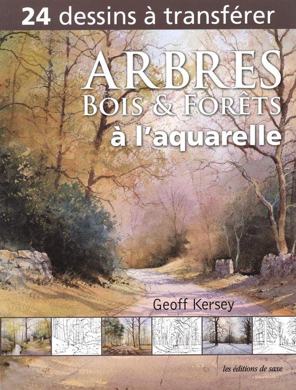 Arbres, bois et forets à l'aquarelle