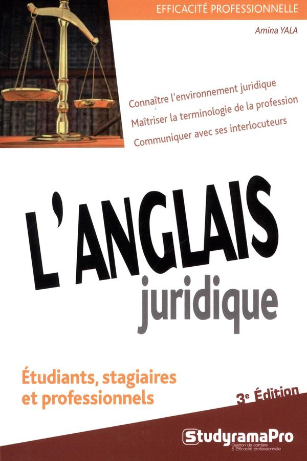 L'anglais juridique 3e édition