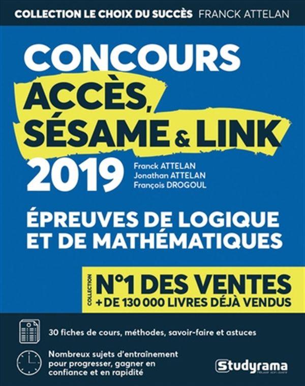Concours Accès, Sésame & Link : épreuves de logique et de mathématiques