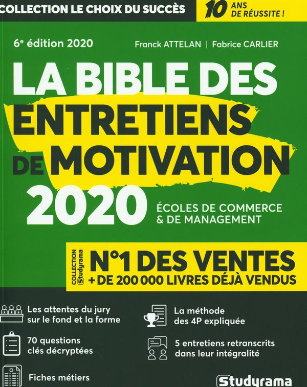La bible des entretiens de motivation 2020 6e édi