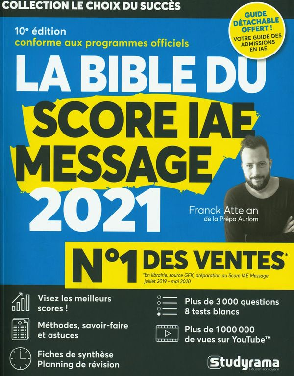 La bible du score IAE message 2021 10e édi