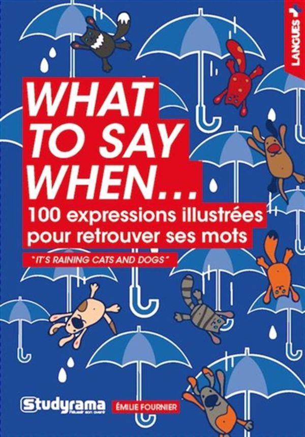 What to say when... 100 expressions illustrées pour retrouver ses mots