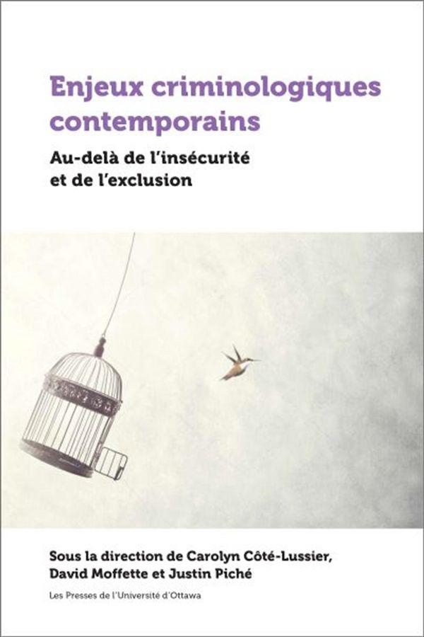 Enjeux criminologiques contemporains : Au-delà de l'insécurité et de l'exclusion