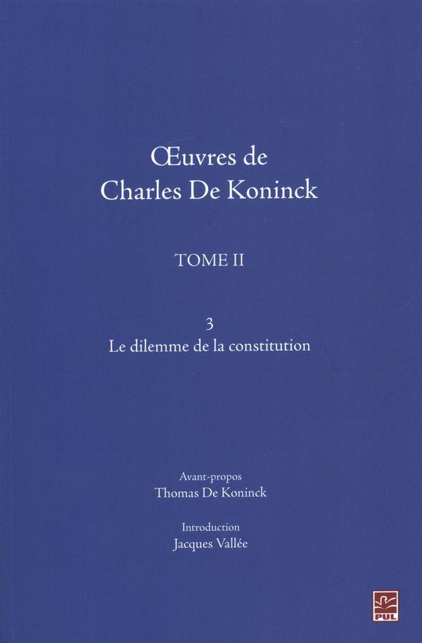 Oeuvres de Charles De Koninck 02 - v.03