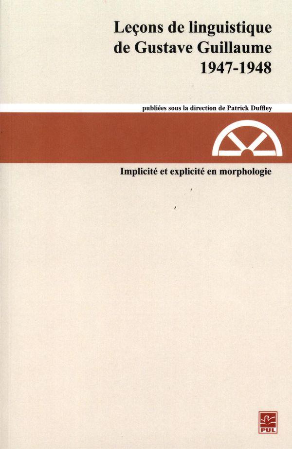 Leçons de linguistique de Gustave Guillaume 1947-1948 22