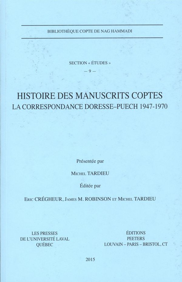 Histoire des manuscrits coptes 9