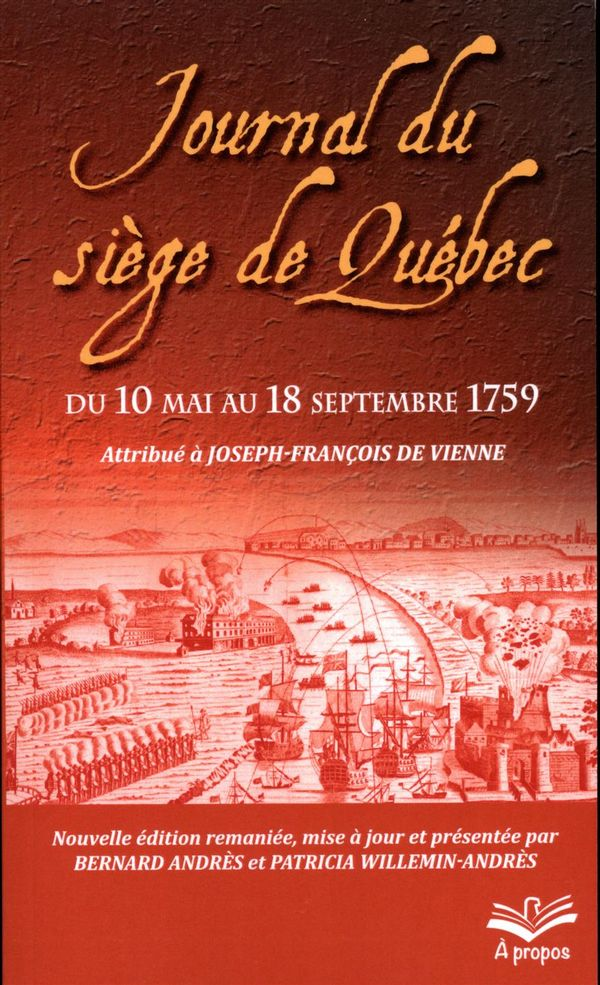 Journal du siège de Québec du 10 mai au 18 septembre 1759 N.E.