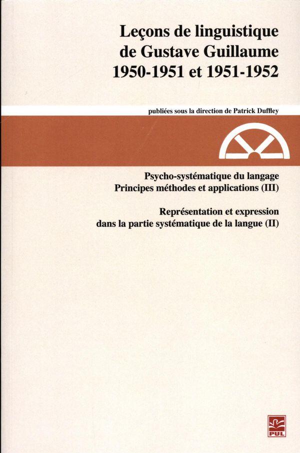 Leçon de linguistique de Gustave Guillaume 1950-1951 et 1951-1952 27