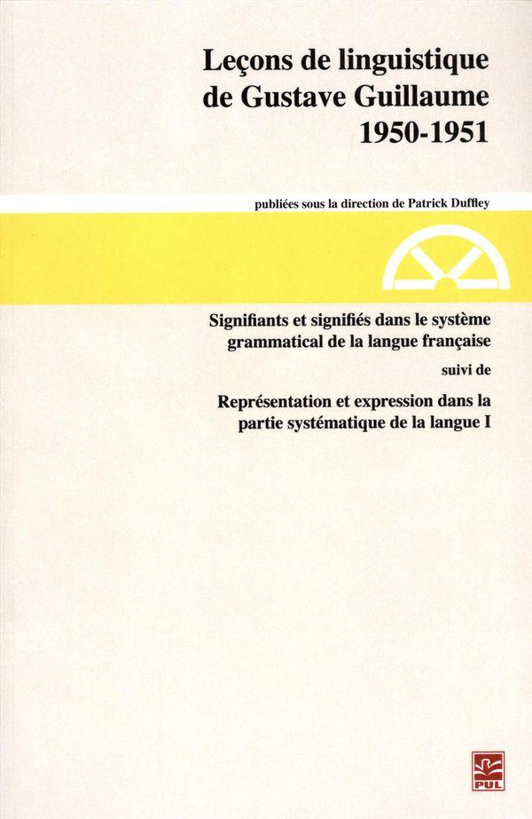 Leçons de linguistique de Gustave Guillaume 1950-1951 30