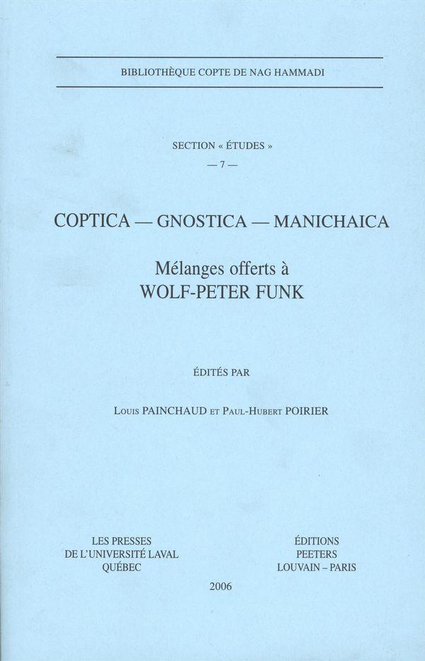 Coptica, Gnostica, manichaia: section études # 7