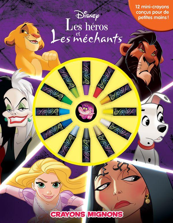 Disney les héros et les méchants : Crayons mignons