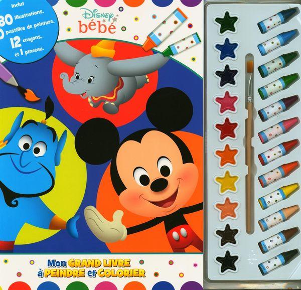 Disney bébé : Mon grand livre à peindre et colorier