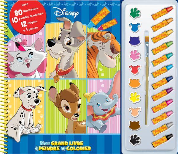 Disney : Mon grand livre à peindre et colorier